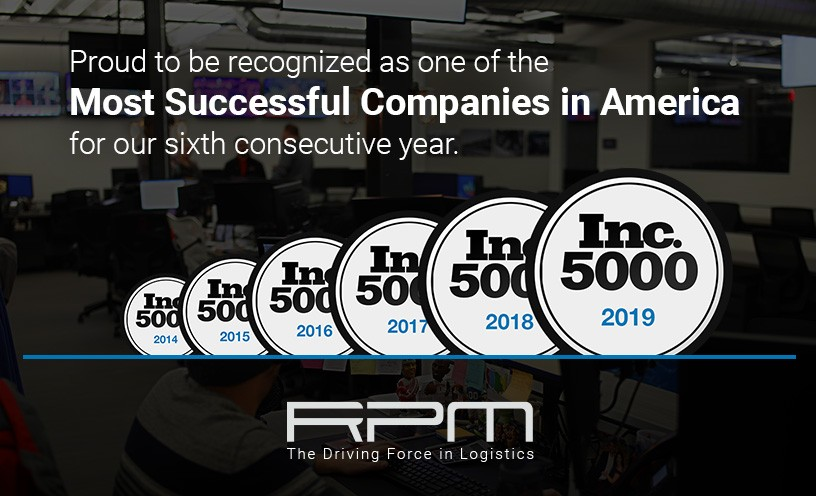 RPM Receives 6th Consecutive Inc. 5000 Award