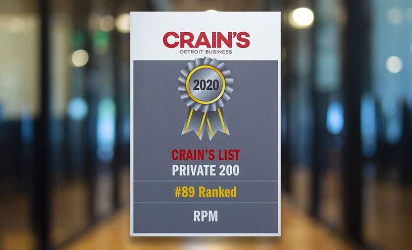 RPM makes Crain's Top Private 200 Companies List in 2020