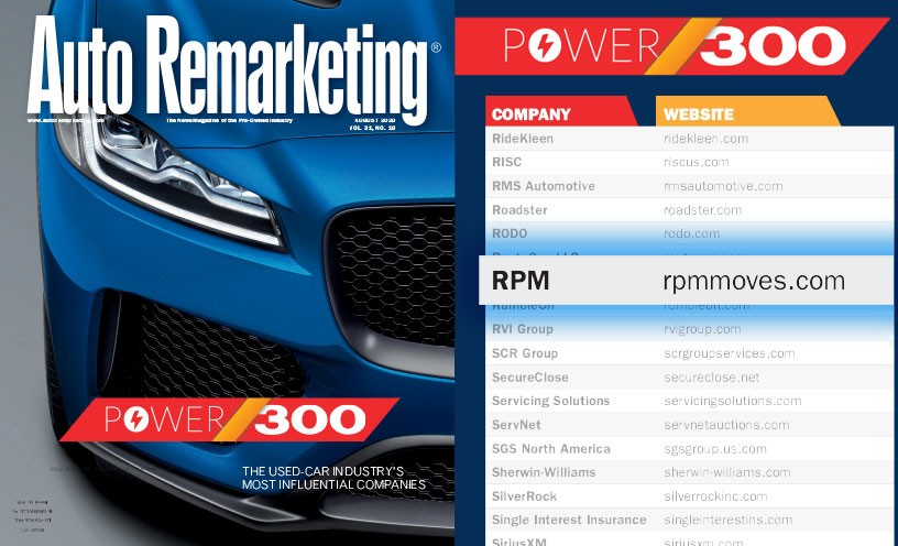 RPM Makes AutoRemarketing.com's Power 300 Special Issue for 4th Consecutive Year