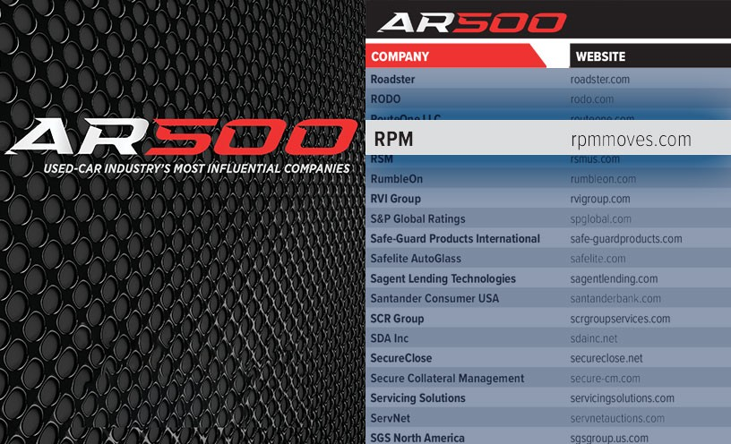 RPM Makes Auto Remarketing Magazine 500 List